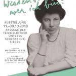 "Plakat zur Ausstellung ""Emmy Rubensohn"""